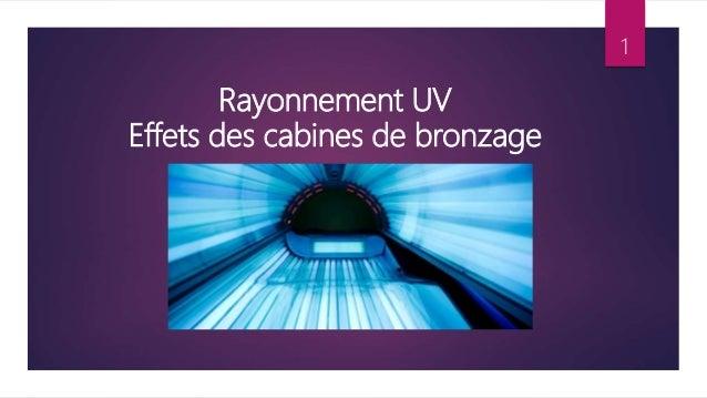 Rayonnement UV Effets des cabines de bronzage 1