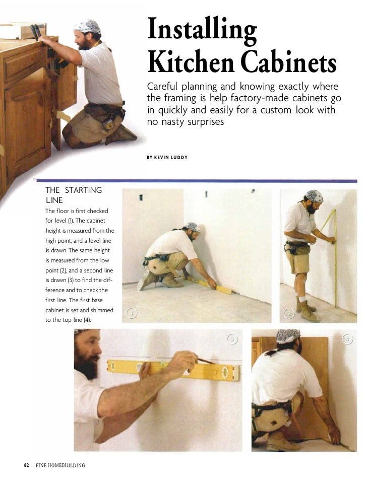 Installing Kitchen Cabinets ...