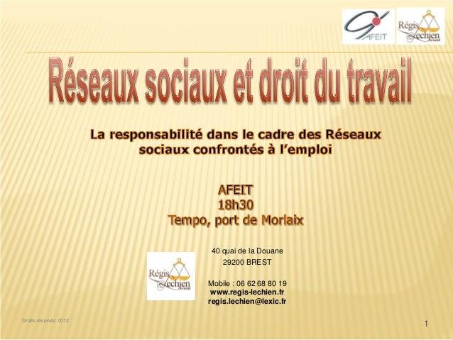 40 quai de la Douane                           29200 BREST                       Mobile : 06 62 68 80 19                  ...