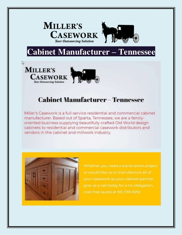 Cabinet Manufacturer – Tennessee