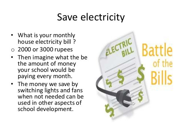 Urging students to save electricity