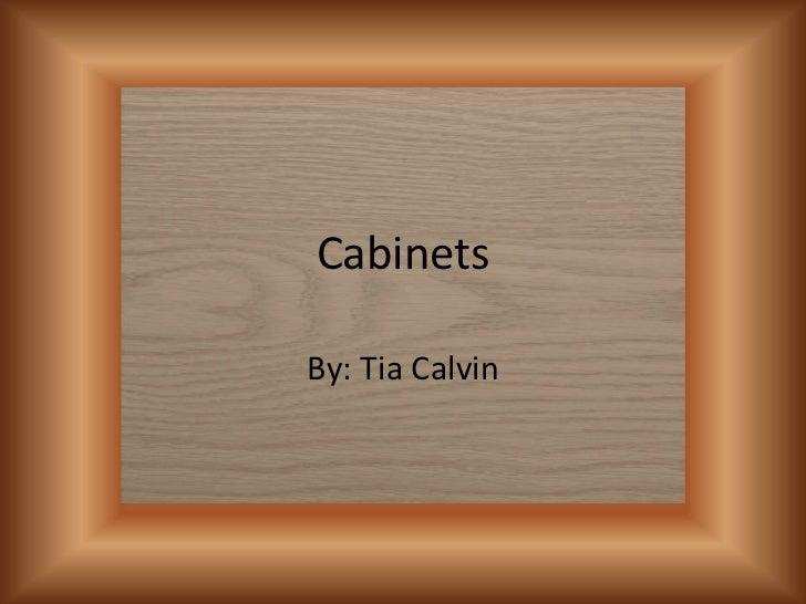 CabinetsBy: Tia Calvin