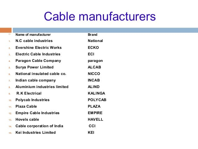 Cable And Laying