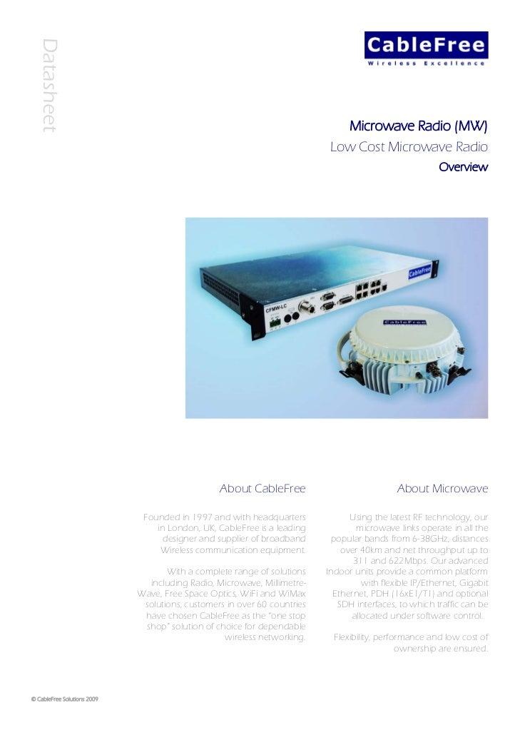 Datasheet                                                                                Microwave Radio (MW)             ...