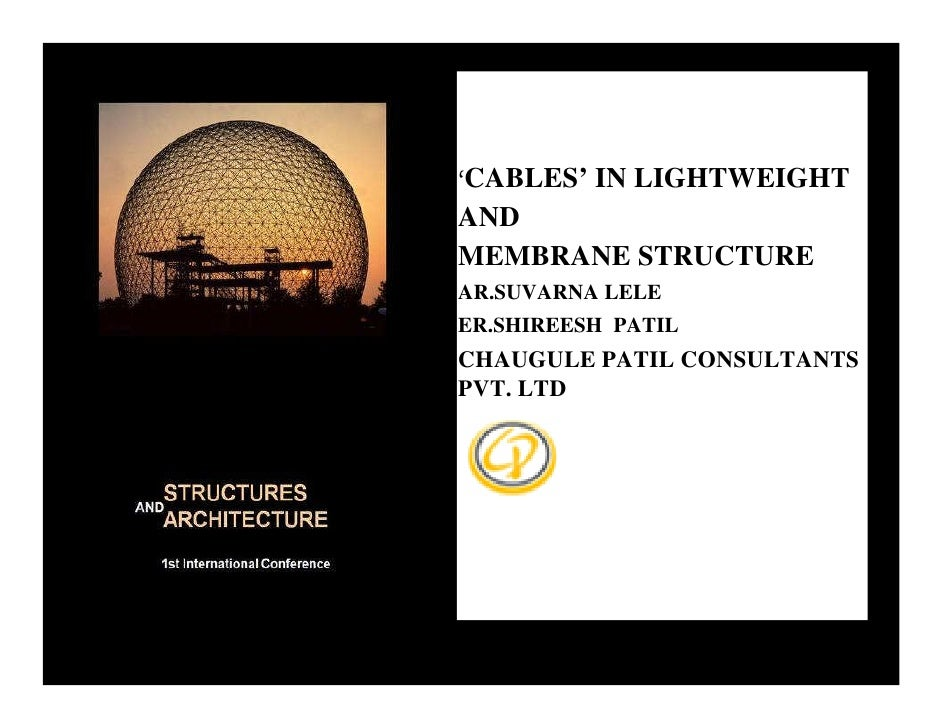 LIGHTWEIGHT CONSTRUCTIONS-'CABLES' in Lightweight and Membrane structures