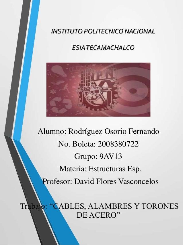 Alumno: Rodríguez Osorio Fernando No. Boleta: 2008380722 Grupo: 9AV13 Materia: Estructuras Esp. Profesor: David Flores Vas...