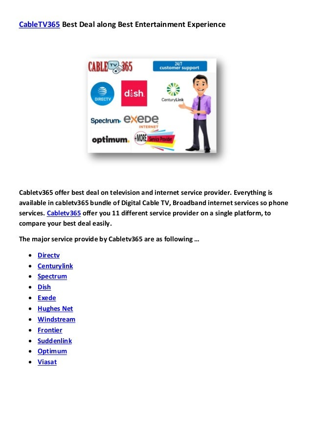 Tv Service Providers >> Cabletv365 Cable Tv Services To Usa And Canada Best Tech