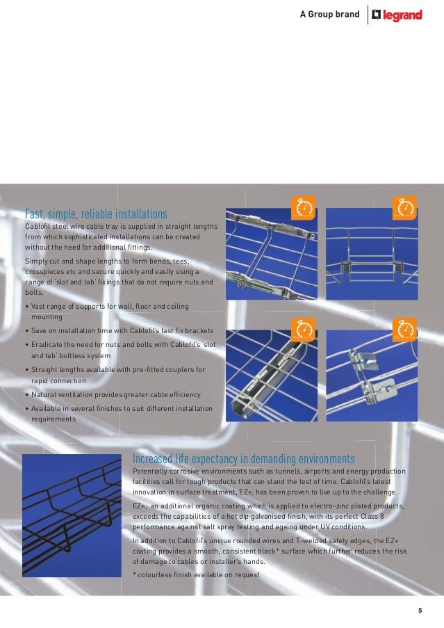 5 Wire Cable Tray - WIRING CENTER •