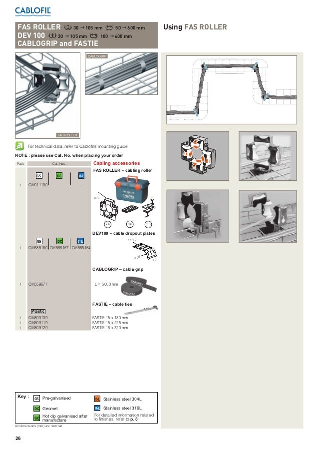 Cablofil Cable Basket Wire Cable Basket Galvanised