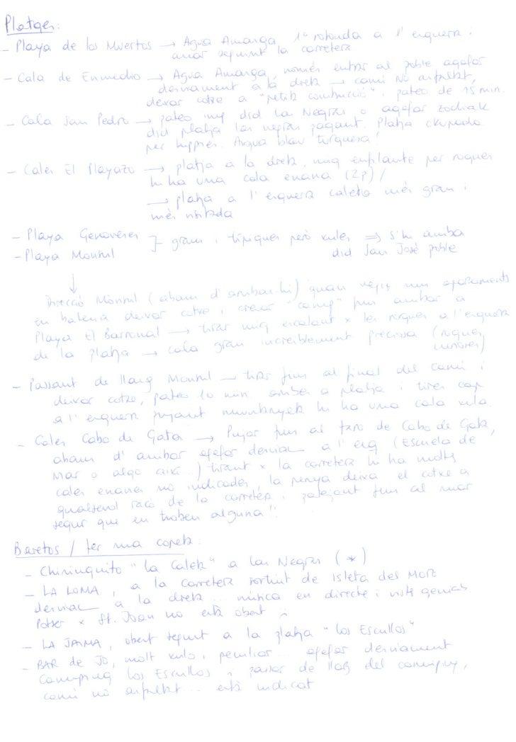 Consells Cabo de Gata (I)