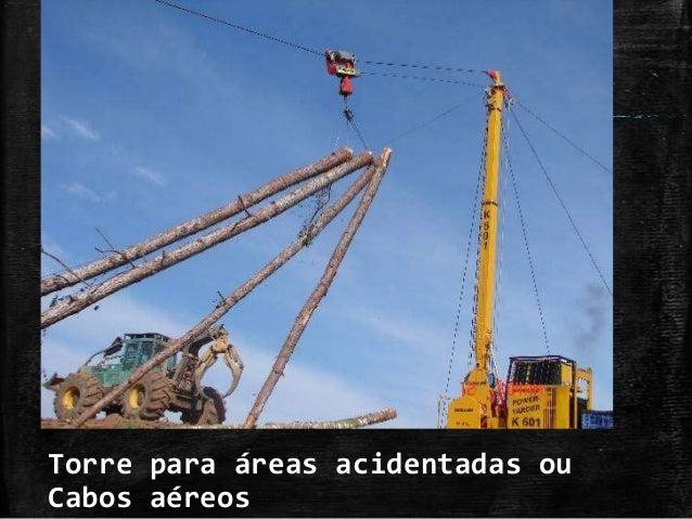 Torre para áreas acidentadas ou Cabos aéreos