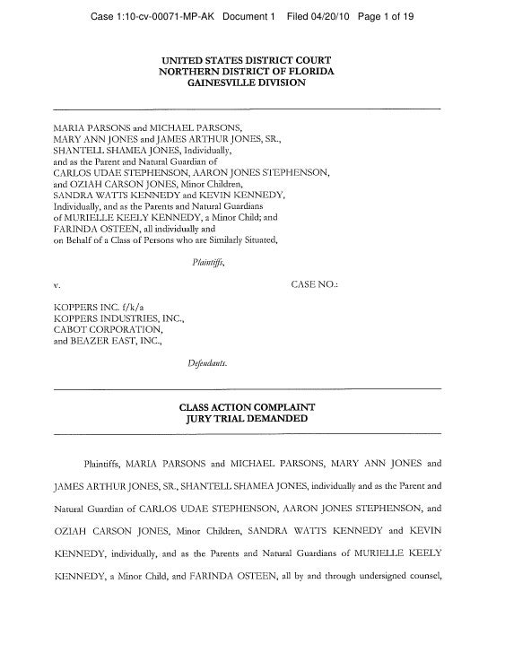 Case 1:10-cv-00071-MP-AK Document 1   Filed 04/20/10 Page 1 of 19