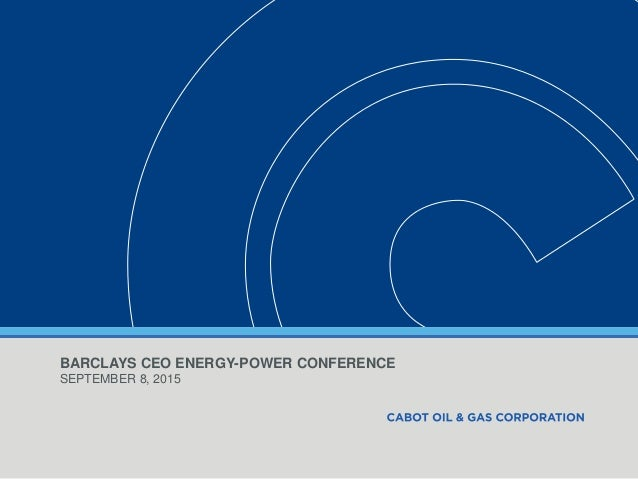 BARCLAYS CEO ENERGY-POWER CONFERENCE SEPTEMBER 8, 2015