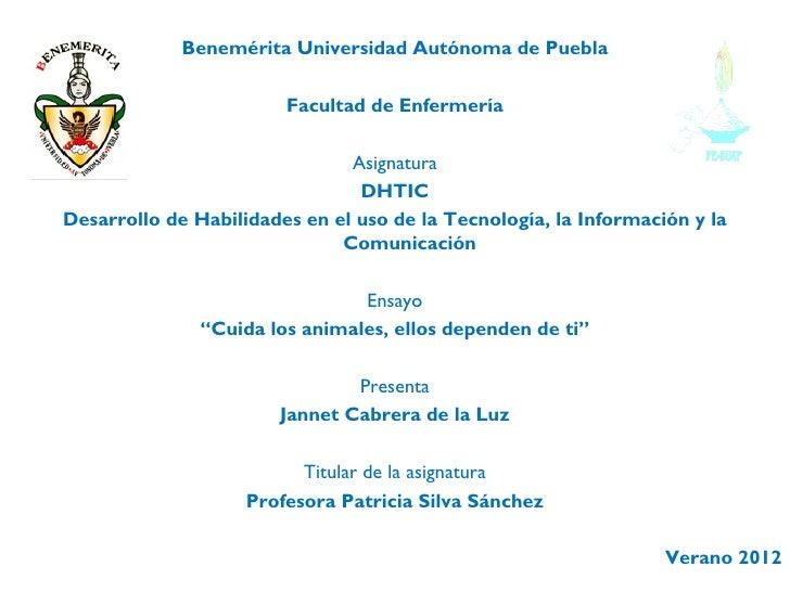 Benemérita Universidad Autónoma de Puebla                        Facultad de Enfermería                               Asig...