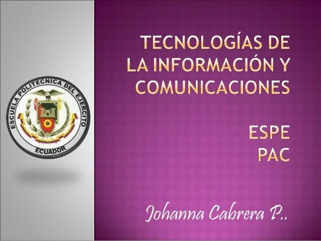 Johanna Cabrera P..