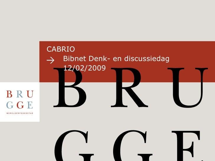 CABRIO    Bibnet Denk- en discussiedag 12/02/2009
