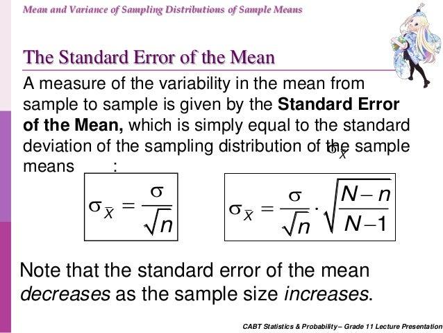 CABT SHS Statistics & Probability - Mean and Variance of Sampling Dis…