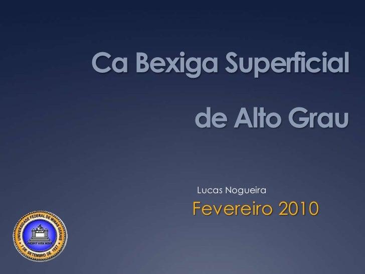 Ca Bexiga Superficialde Alto Grau<br />Fevereiro 2010<br />Lucas Nogueira<br />