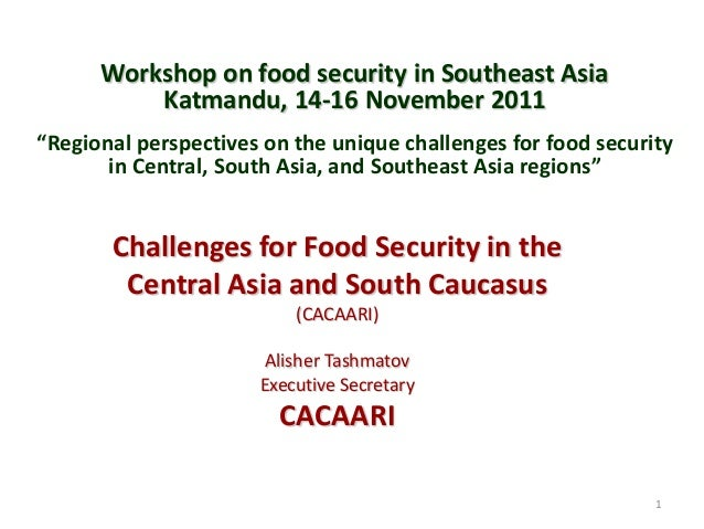 """Workshop on food security in Southeast Asia Katmandu, 14-16 November 2011 """"Regional perspectives on the unique challenges ..."""