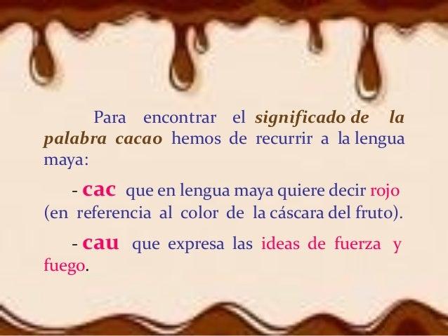 Historia del cacao y el cocozhi dxn for Significado de la palabra arbol