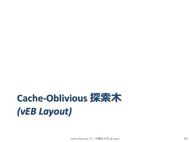 Cache-Oblivious 探索木 (vEB Layout) Cache-Oblivious データ構造入門 (@iwiwi)  25