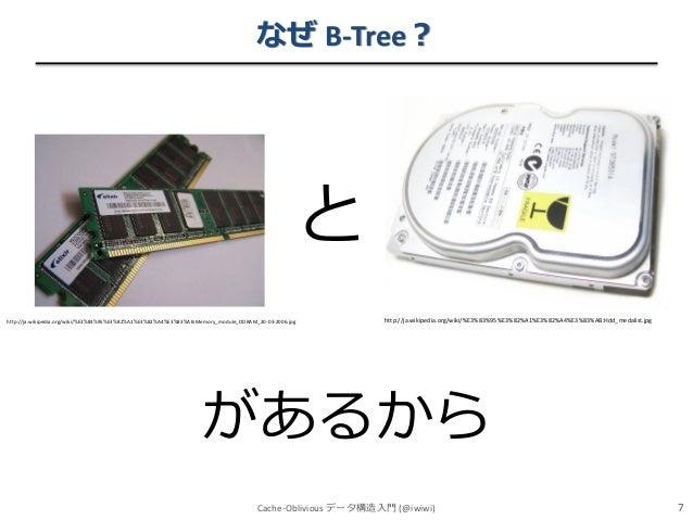 なぜ B-Tree?  と http://ja.wikipedia.org/wiki/%E3%83%95%E3%82%A1%E3%82%A4%E3%83%AB:Memory_module_DDRAM_20-03-2006.jpg  http:/...