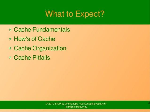 Cache Management Slide 2