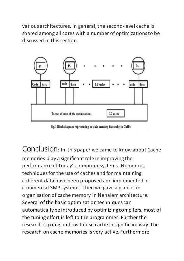 Cache memory + research paper