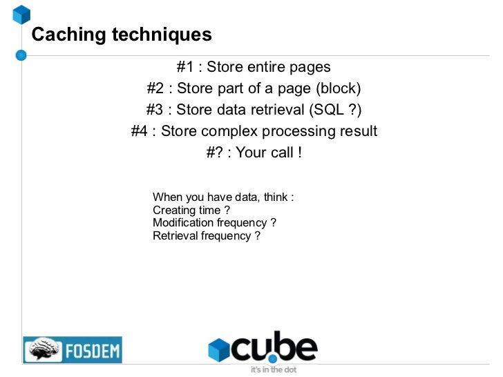 Goals of this tutorial <ul><li>Everything about caching and tuning