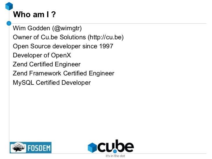 Who am I ? <ul><li>Wim Godden (@wimgtr)