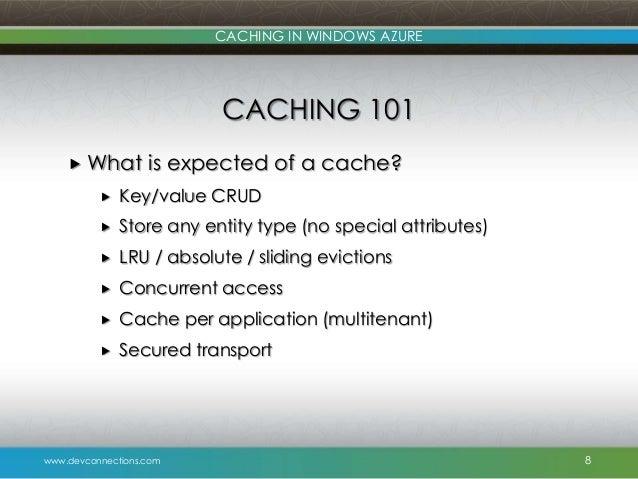 Caching In Windows Azure
