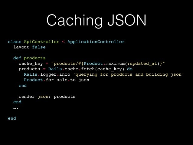 Real World Caching with Ruby on Rails