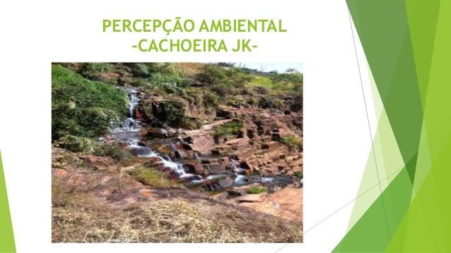 PERCEPÇÃO AMBIENTAL -CACHOEIRA JK-
