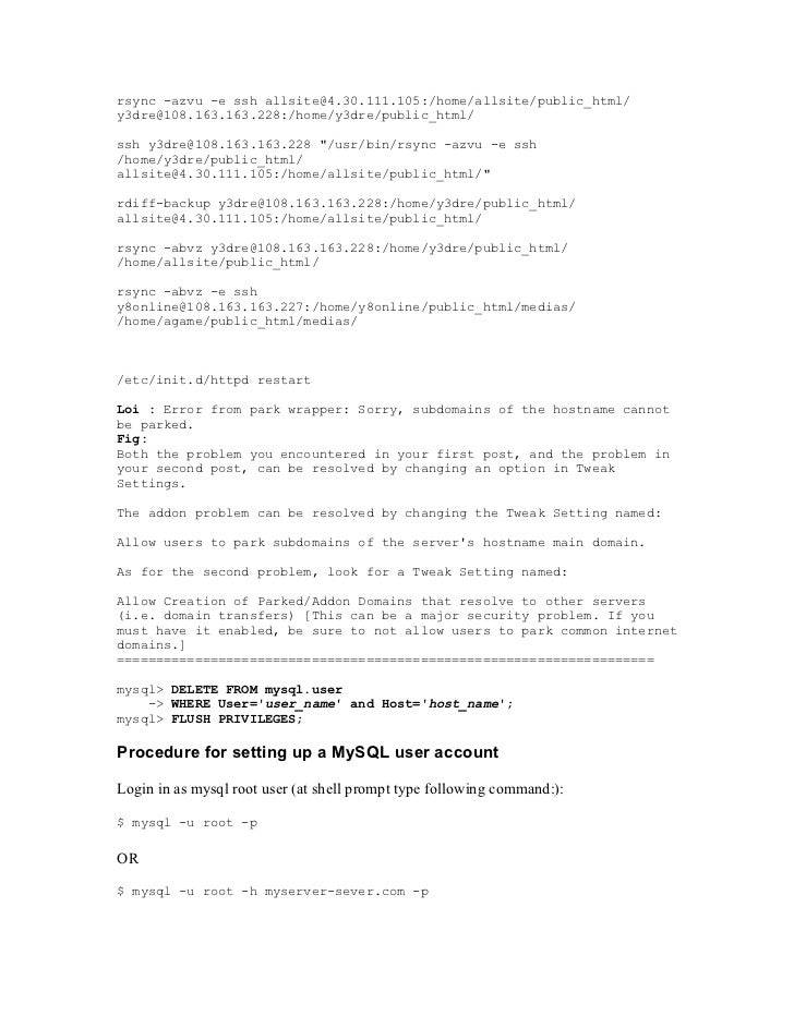 rsync -azvu -e ssh allsite@4.30.111.105:/home/allsite/public_html/y3dre@108.163.163.228:/home/y3dre/public_html/ssh y3dre@...