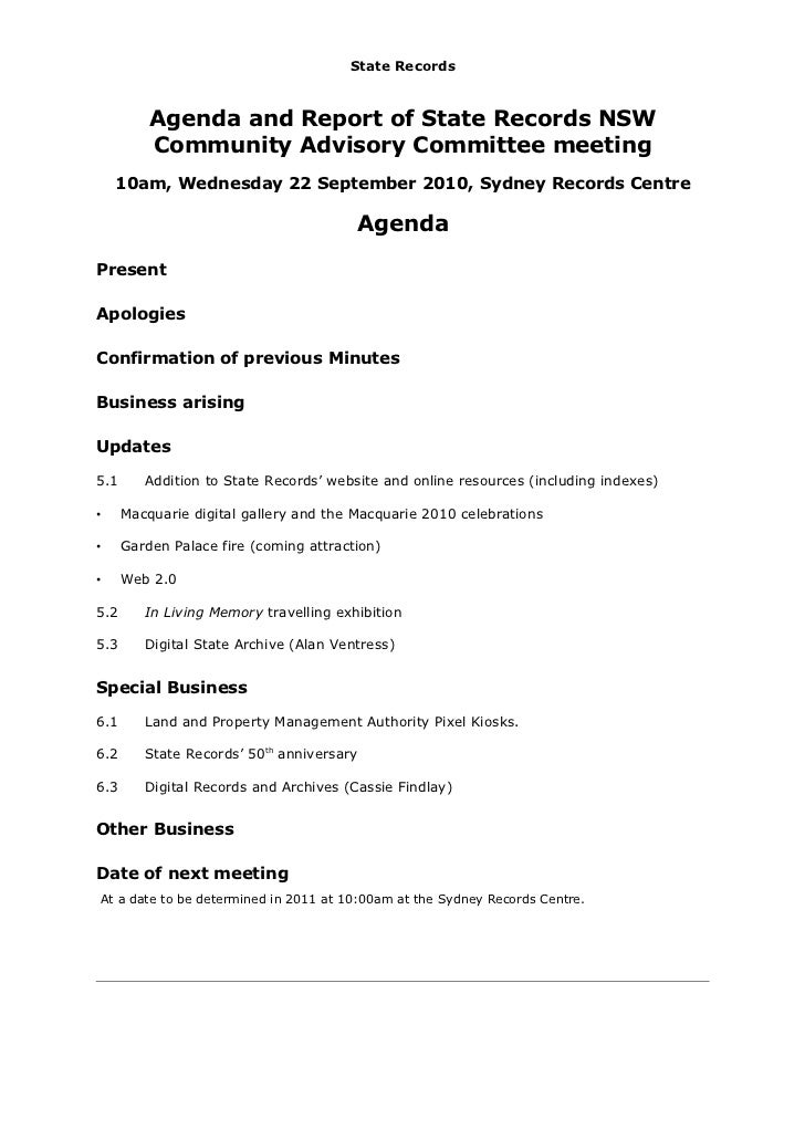agenda and report on the community advisory committee meeting septemb. Black Bedroom Furniture Sets. Home Design Ideas