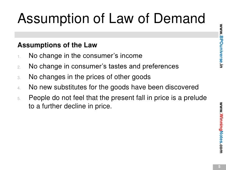 law of demand notes