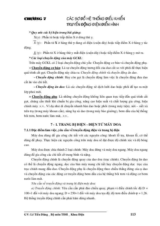 GV: Lê Ti n Dũng _ B môn TðH _ Khoa ði n 113 CH¦¥NGCH¦¥NGCH¦¥NGCH¦¥NG 7777 C¸CC¸CC¸CC¸C S¥S¥S¥S¥ §å§å§å§å HÖHÖHÖHÖ THèNGTH...
