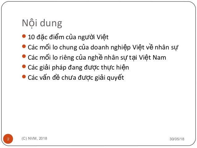 Các vấn đề trong Quản trị Nhân sự tại Doanh nghiệp Việt Nam Slide 2