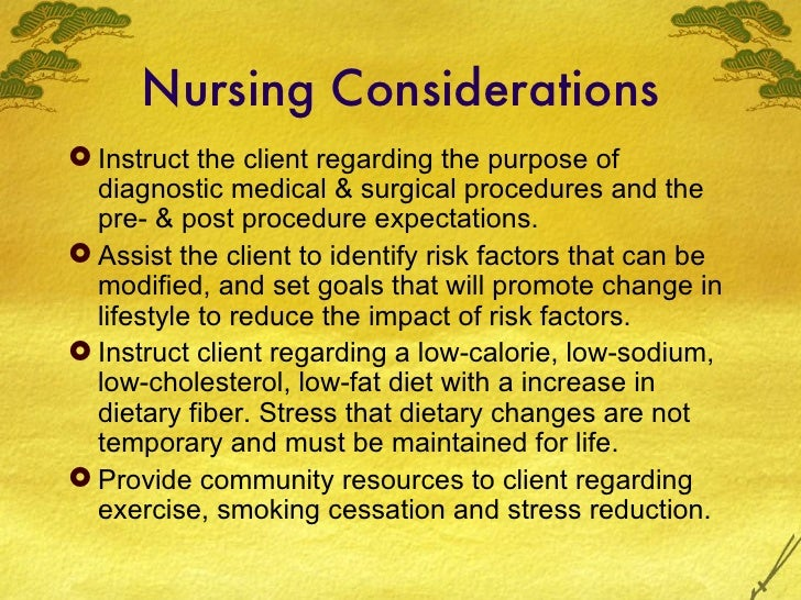 nursing interventions for cad