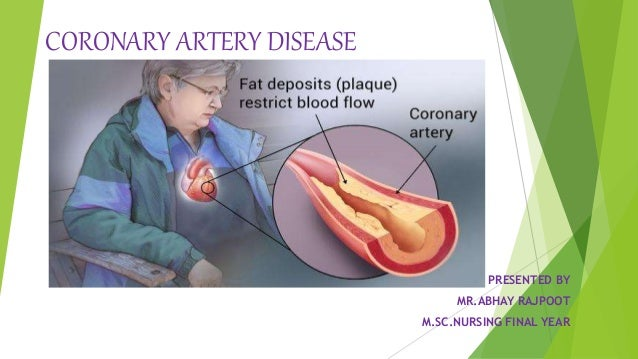 CORONARY ARTERY DISEASE PRESENTED BY MR.ABHAY RAJPOOT M.SC.NURSING FINAL YEAR