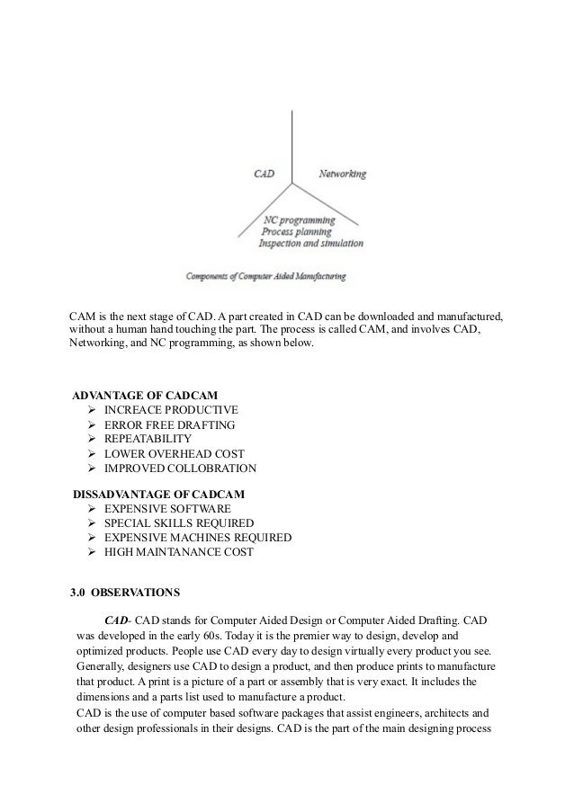 Cad cam report-final (mechanical workshop)