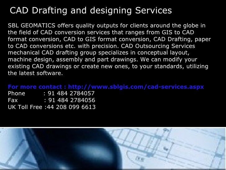 Cad Design Services : Cad drafting services presentation ppt