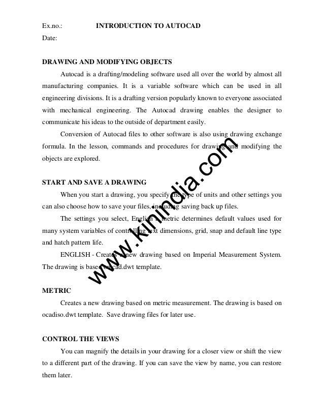 cad me2155 lab manual rh slideshare net cad lab manual pdf cad lab manual for civil engineering