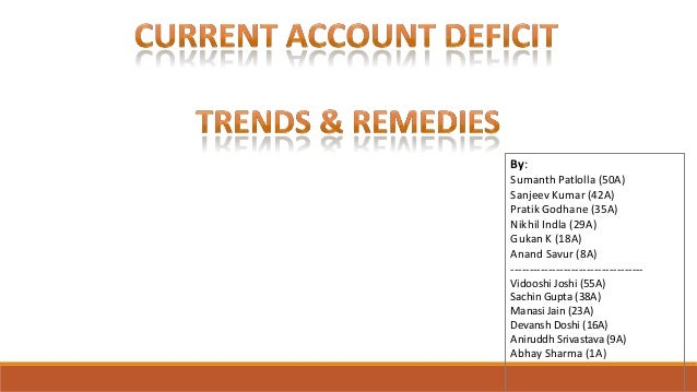 Current Account Deficit in India: Trends and Remedies