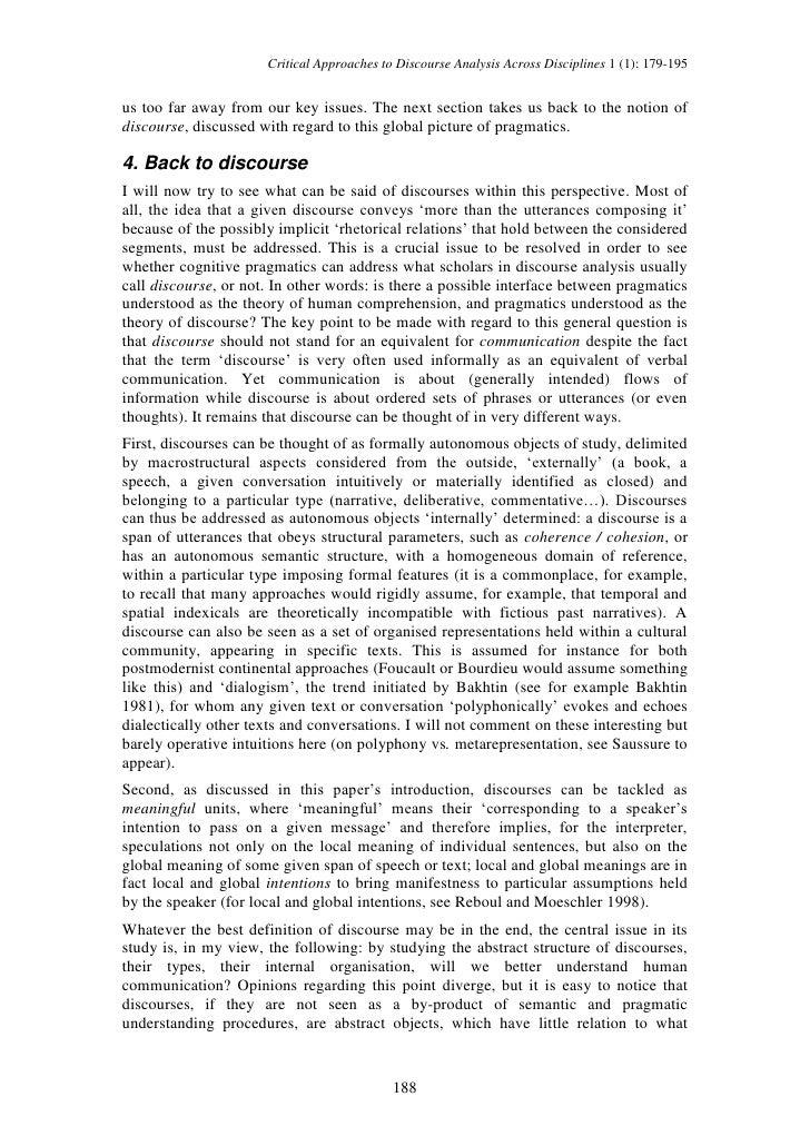 pragmatic analysis Title: a pragmatic analysis of the language of religion in selected sermons of william kumuyi authors: bahago, shawa1 keywords.