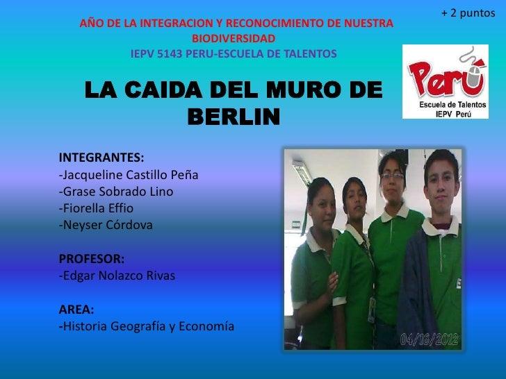 + 2 puntos   AÑO DE LA INTEGRACION Y RECONOCIMIENTO DE NUESTRA                      BIODIVERSIDAD           IEPV 5143 PERU...