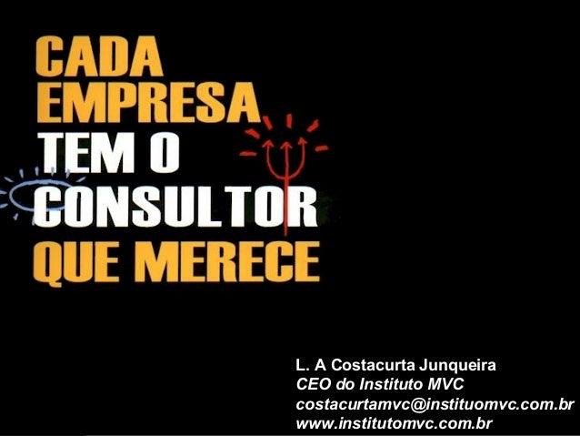 L. A Costacurta Junqueira CEO do Instituto MVC costacurtamvc@instituomvc.com.br www.institutomvc.com.br