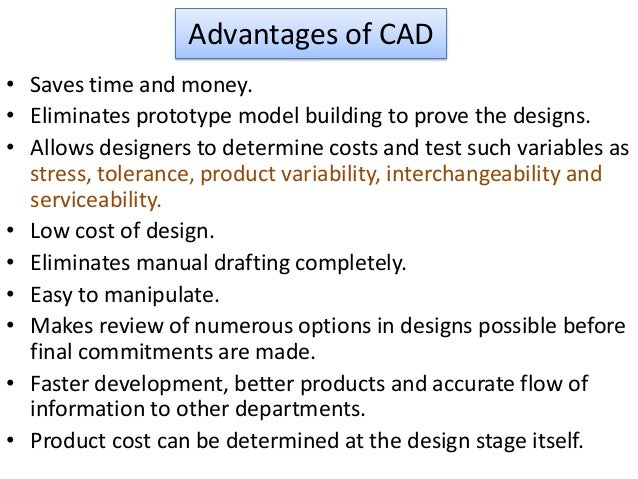 advantages of cad in engineering
