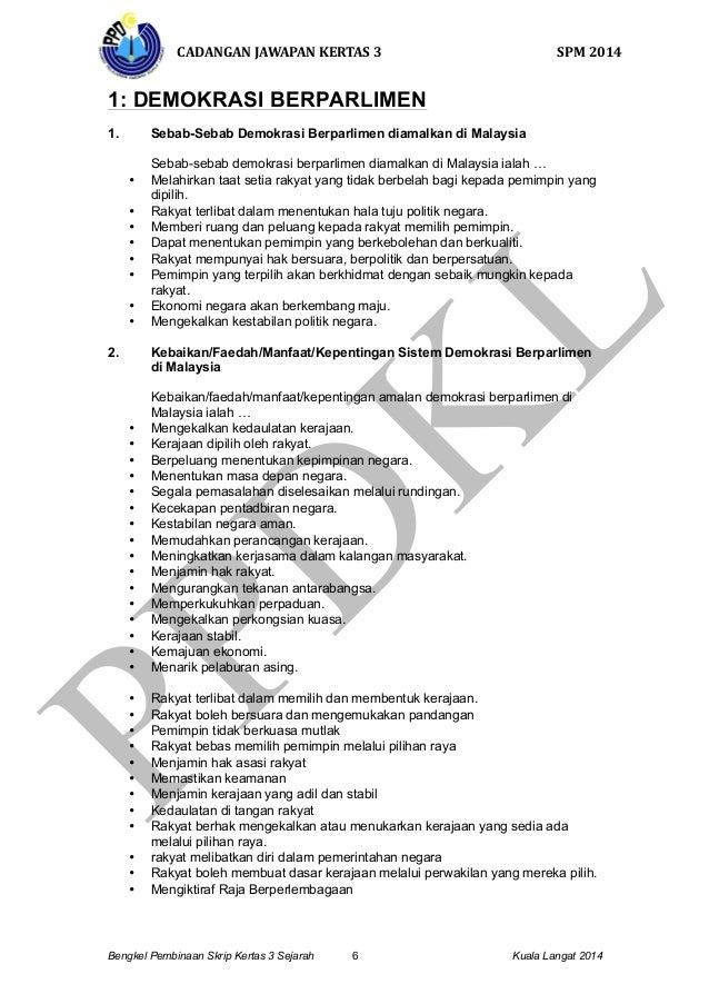 Cadangan Skrip Jawapan Kertas 3 Spm 2014 Bahagian B