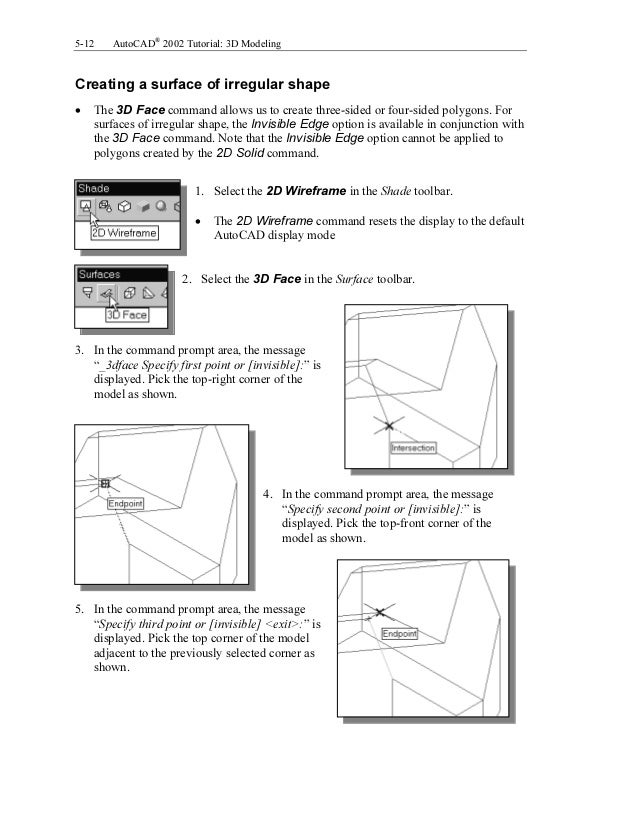 autocad 2002 tutorial 3d modeling